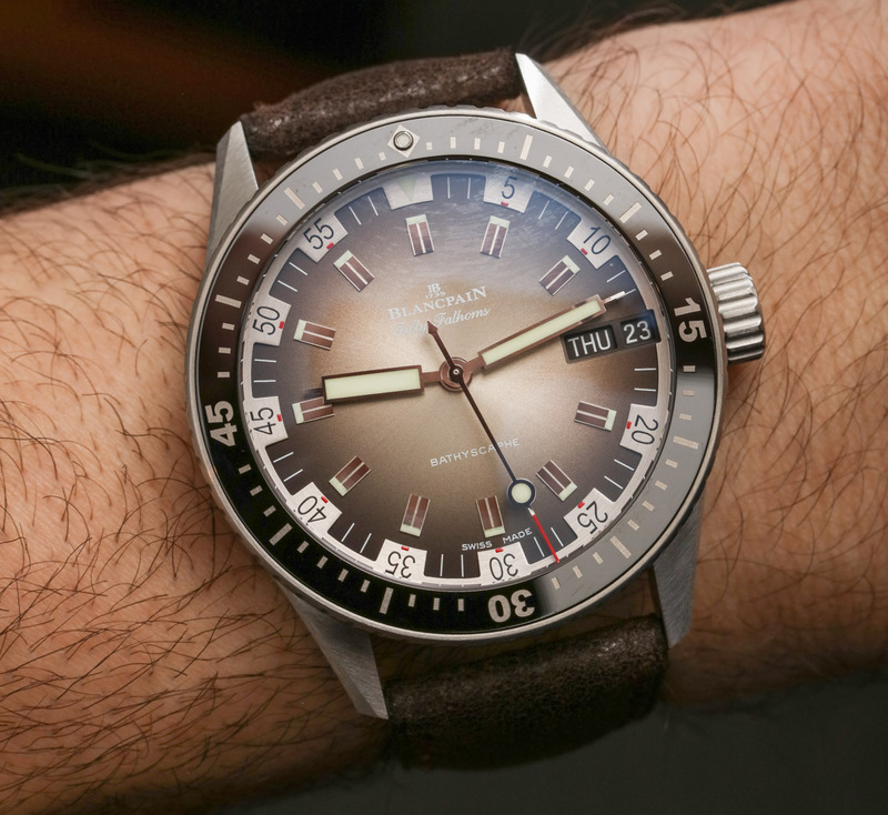 Blancpain Fifty Fathoms Bathyscaphe Day Date 70s Hands-On