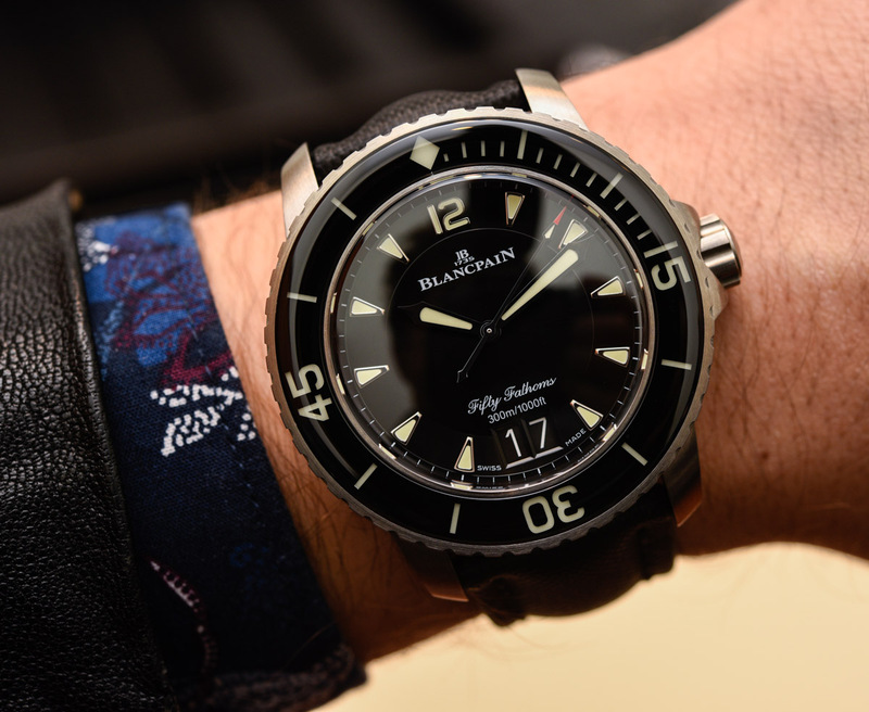 Blancpain Fifty Fathoms Grande Date 5050 Watch Hands-On