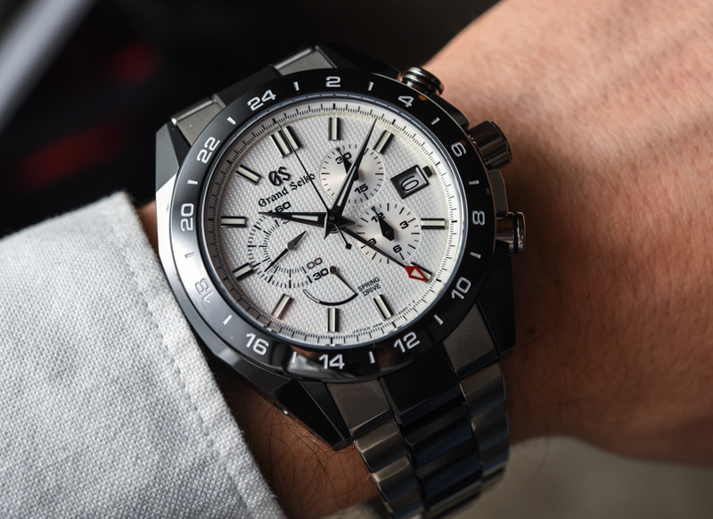 Grand Seiko Black Ceramic Spring Drive Chronograph GMT Watches Hands-On
