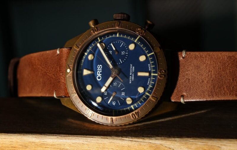 Oris Carl Brashear Chronograph Limited Edition Bronze Watch Hands-On