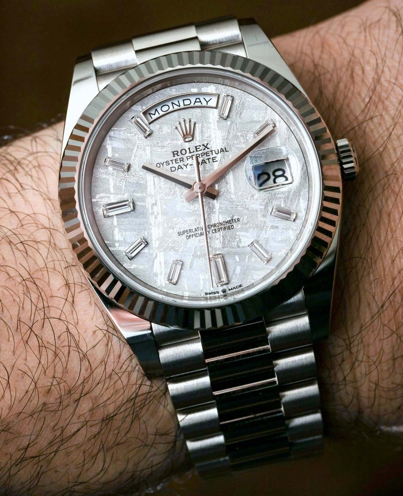 Rolex Day-Date 40 White Gold Meteorite Dial 228239 Watch Hands-On