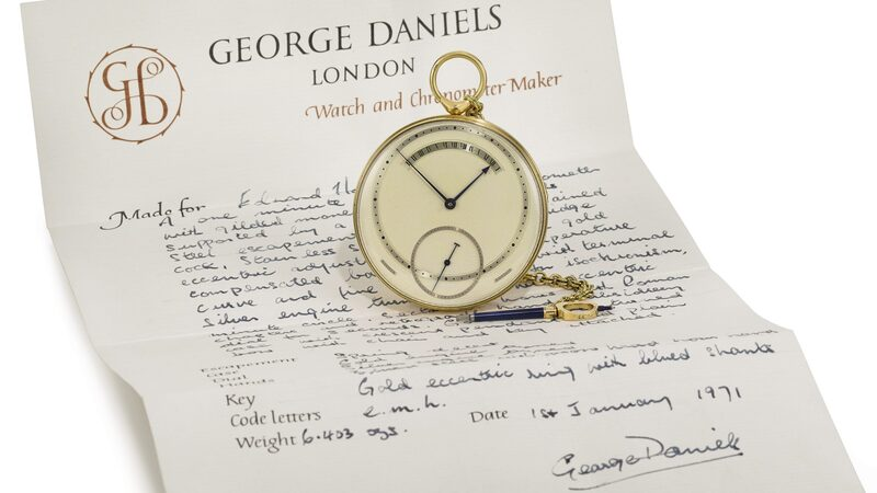 Auctions: 'The Celebration Of The English Watch Part IV' At Sotheby's Features George Daniels Tourbillon