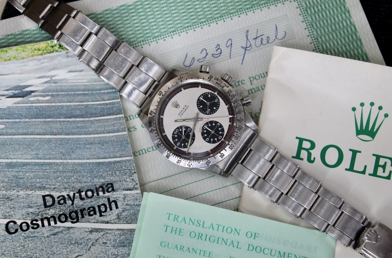 Bring a Loupe: A Full Set Rolex 'Paul Newman' Daytona, A Stunning Eberhard Scientigraf, A Blue Universal Genève Compax, And More