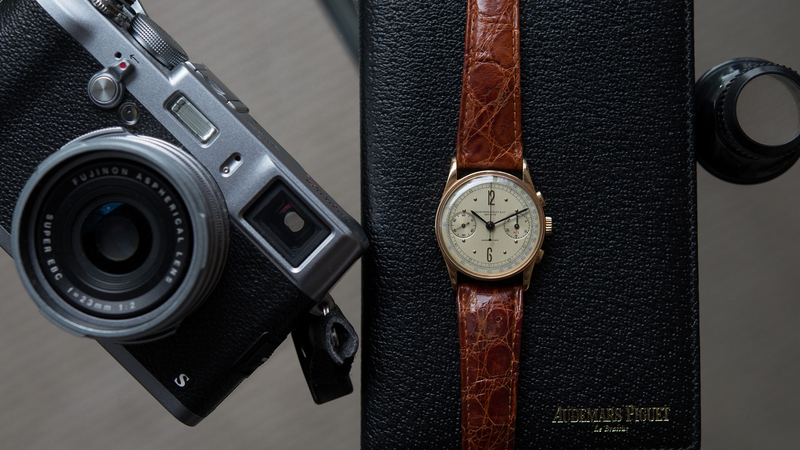 """Bring a Loupe: A Killer Vintage AP Chronograph In Pink Gold, A Heuer Monaco """"Dark Lord,"""" A Big Red Daytona With Full Kit, An Early El Primero, An Hermes-Signed Universal, And More"""