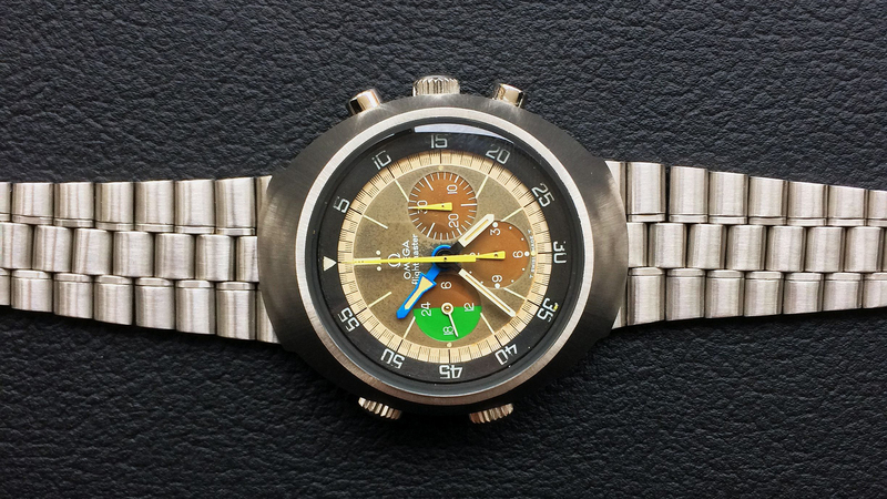 Bring a Loupe: A Tropical Omega Flightmaster Ref. 145.013, A Great Longines 13ZN, A Yellow Gold Rolex Datejust 1601 With Malachite Dial, And More