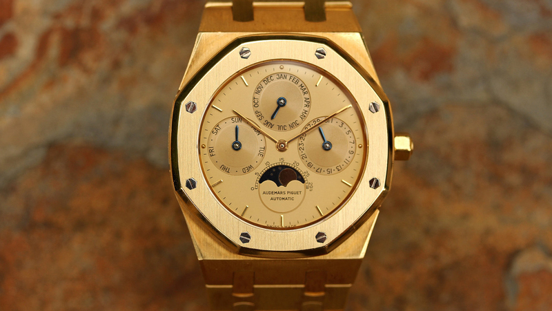 Bring a Loupe: An Audemars Piguet Royal Oak Perpetual Calendar In Gold, A Zenith El Primero A386 With Box And Papers, A Favre-Leuba Sea Sky GMT, And More