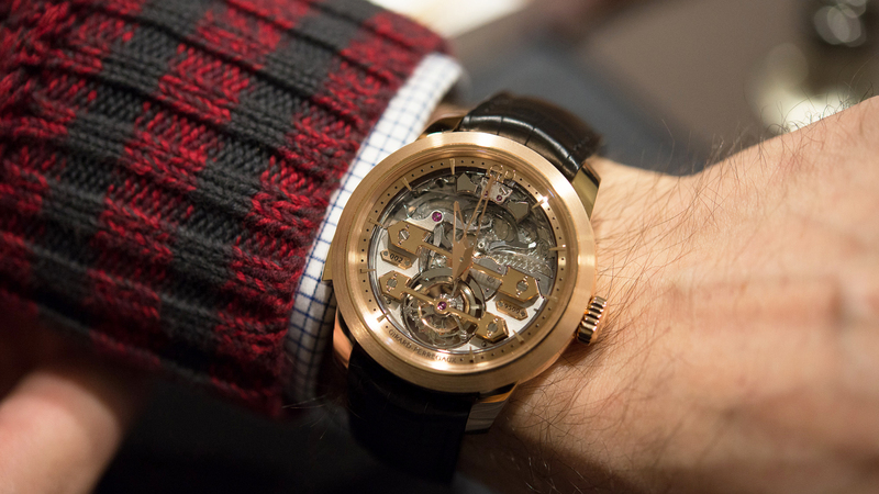 Hands-On: The Girard-Perregaux Minute Repeater Tourbillon With Gold Bridges