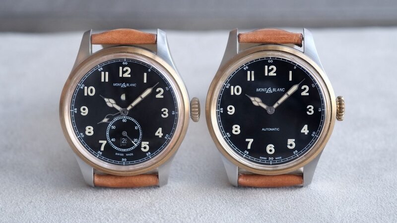Introducing: The Montblanc 1858 Automatic And 1858 Automatic Dual Time, Two-Tone In Stainless Steel And Bronze (Live Pics & Pricing)