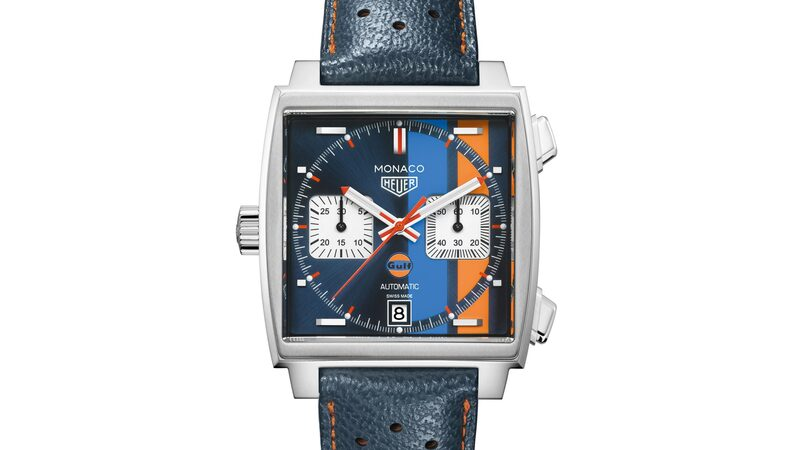 Introducing: The TAG Heuer Monaco Gulf Special Edition For 50th Anniversary Of Gulf Oil Stripes