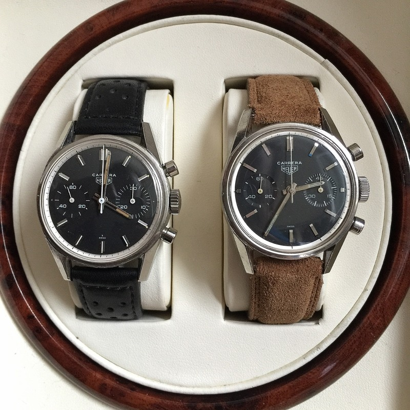 Recommended Reading: Two Early Heuer Carreras Go Head-To-Head