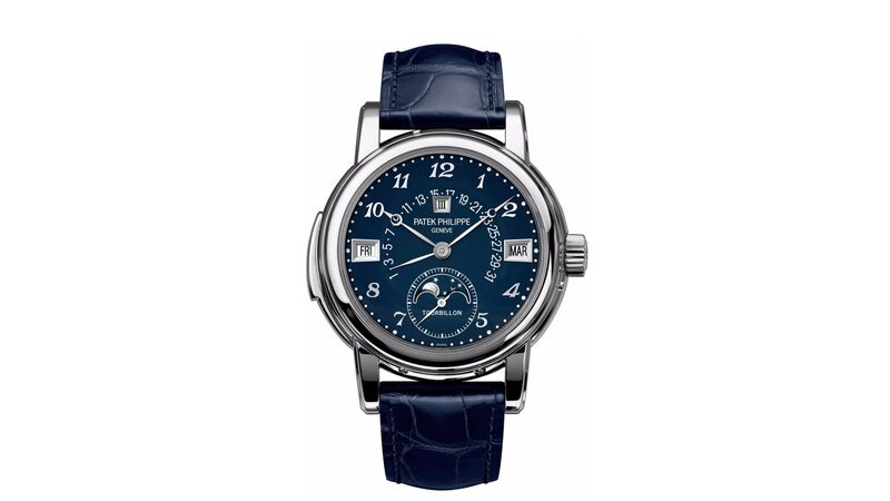 The Patek Philippe 5016A, A Unique Grand Complicaton In Stainless Steel With Blue Enamel Dial For Only Watch 2015