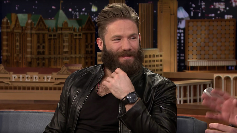 Watch Spotting: New England Patriots Wide Receiver (And Super Bowl Champion) Julian Edelman Wearing An Omega Speedmaster Dark Side Of The Moon 'Black Black' On The Jimmy Fallon Show