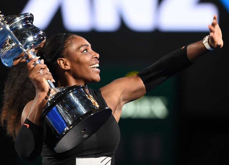 Watch Spotting: Serena Williams Wins 2017 Australian Open And Becomes Winningest Player In Open Era All While Wearing An Audemars Piguet Millenary In Rose Gold
